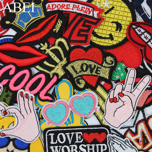 30pcs/lot Mix Embroidered Cartoon Patches Quality Fashion Iron On Jeans Stickers DIY Garment Appliques Sew Apparel Coats Badge(China)
