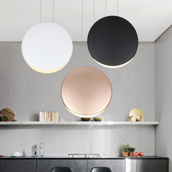 Modern iron Circle Pendant Lamp Hanging Lights Fixture Hanglamp for Home Indoor Dining Room Office Lighting Fixture Decor