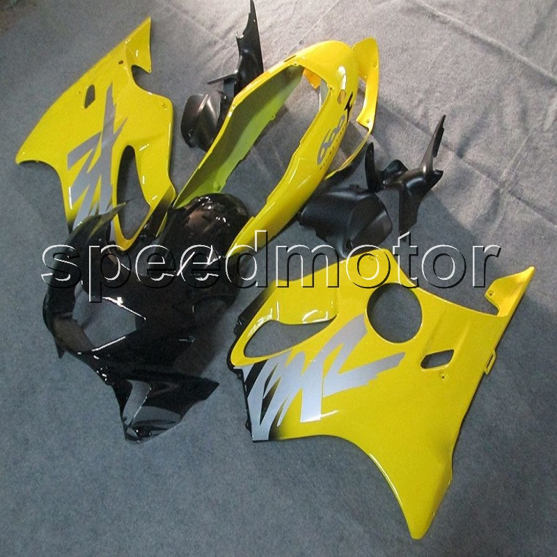 Custom+5Gifts+NEW Injection mold ABS plastic cowl CBR600 F4 99-00 yellow motorcycle Fairing for Honda CBR 600F4 1999 2000 high quality custom injection mold abs plastic injection moulding