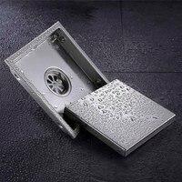 Tile Insert Square Floor Waste Grates Bathroom Shower Drain 304 Stainless Steel Anti Odor Floor Drain