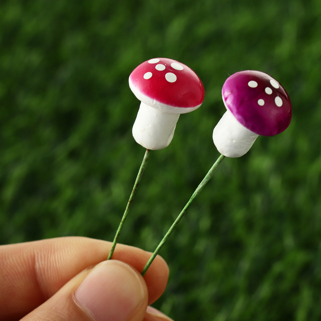 10/20pcs Miniature Artificial Foam Potted Plants Decor Mini Mushroom DIY Craft Home Garden Ornament Resin Crafts Moss Decoration 6