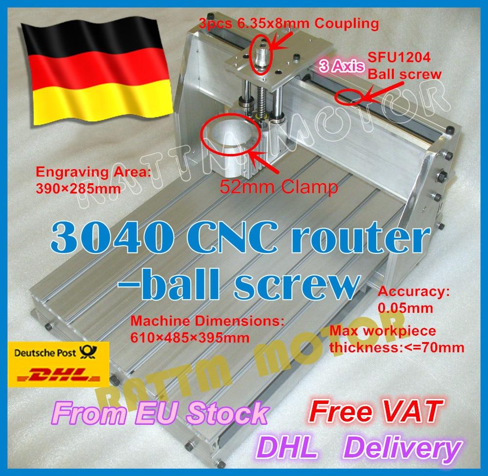 From DE / free VAT 3040 CNC router milling machine mechanical ball screw kit CNC aluminium alloy Frame for DIY user eur free tax cnc 6040z frame of engraving and milling machine for diy cnc router