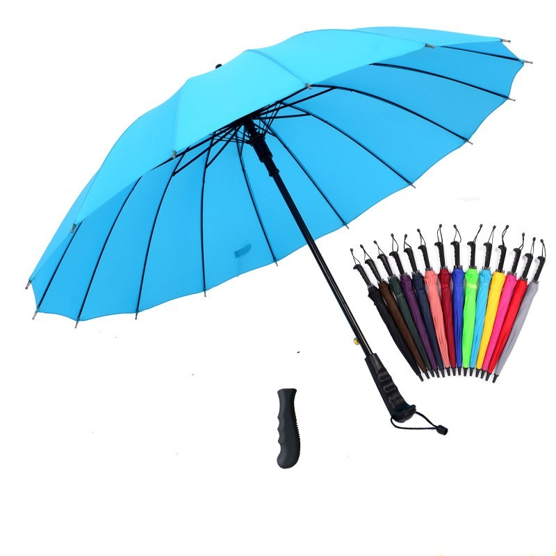 hot haute qualit 16 os poigne droite parapluie couleur arc en parapluie multicolore en - Parapluie Color