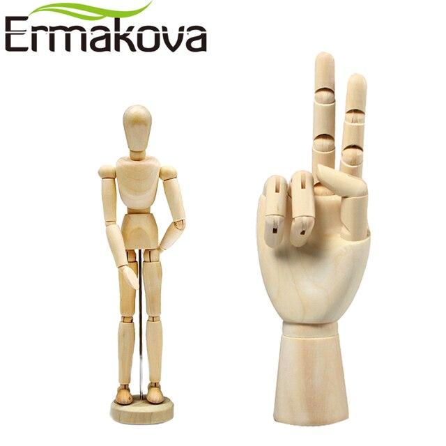 ermakova 2 pcs set 5 5 inch wooden human mannequin 7 inch wooden