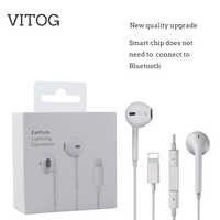 Écouteurs d'éclairage avec microphone, écouteurs stéréo filaires pour Apple iPhone 8 7 Plus X XS MAX XR, écouteurs filaires