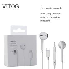 Проводные световые наушники с микрофоном, стереонаушники для Apple iPhone 8 7 Plus X XS MAX XR iPod, проводные наушники с разъемом Lightning