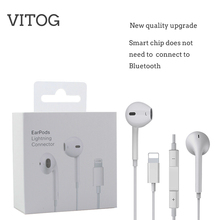 Lighting Earphone with microphone Wired Stereo Earphones for