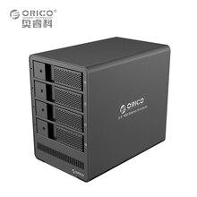 """Orico herramienta libre 4 bahía de 3.5 """"sata gabinete de unidad de soporte 4×8 tb, negro"""