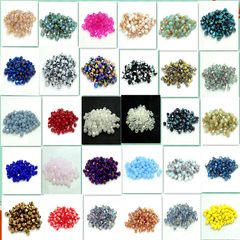 Wholesale  lot  200pcs bicone crystal glass 5301# loose spacer Beads  3mm  DIY ...