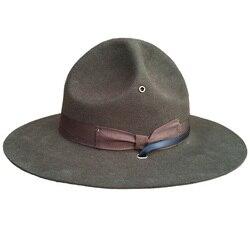 Шерстяная военная шляпа для военной кампании, шляпа инструктора-дрели/шляпа рейнджера Mountie