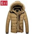 Casacos de inverno dos homens Quentes Casual Grosso Outwear Slim Fit Roupas de Marca masculino Casacos Jaqueta Com Capuz De Pele Plus Size 4XL 5XL X486
