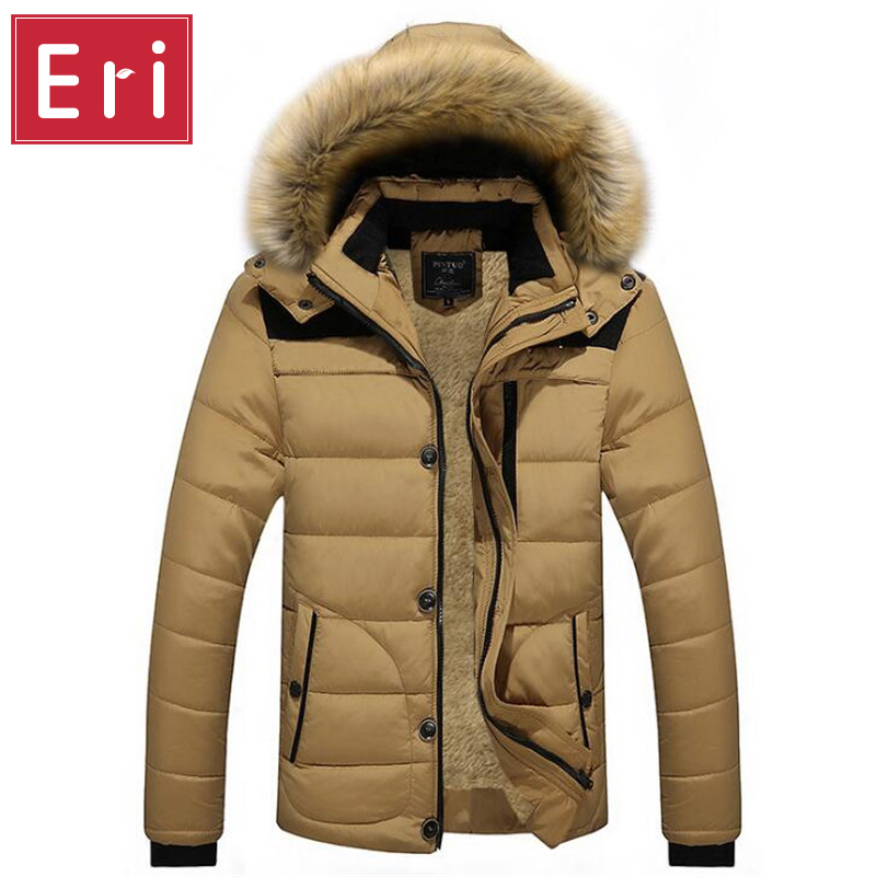Winter Jackets Men's Warm Casual Thick Outwear Slim Fit Brand Clothing Male Coats Down Jacket Fur Hooded Plus Size 4XL 5XL X486 free shipping winter parkas men jacket new 2017 thick warm loose brand original male plus size m 5xl coats 80hfx