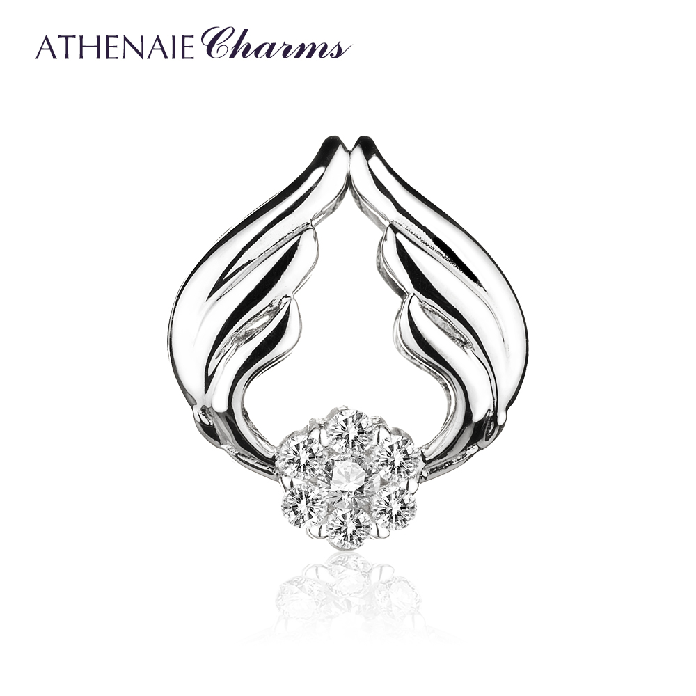 ATHENAIE 925 Sterling Silver Love Angel Wings with Clear CZ Charms ATHENAIE 925 Sterling Silver Love Angel Wings with Clear CZ Charms