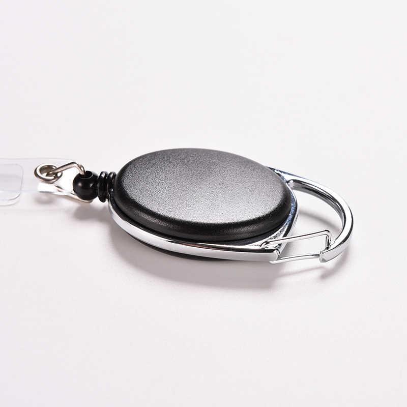 Creative מפתח מחזיק ארגונית למשוך מפתח טבעת מזהה כרטיס תג תג חגורת קליפ שרשרת מחזיק מתכת דיור פלסטיק מכסה