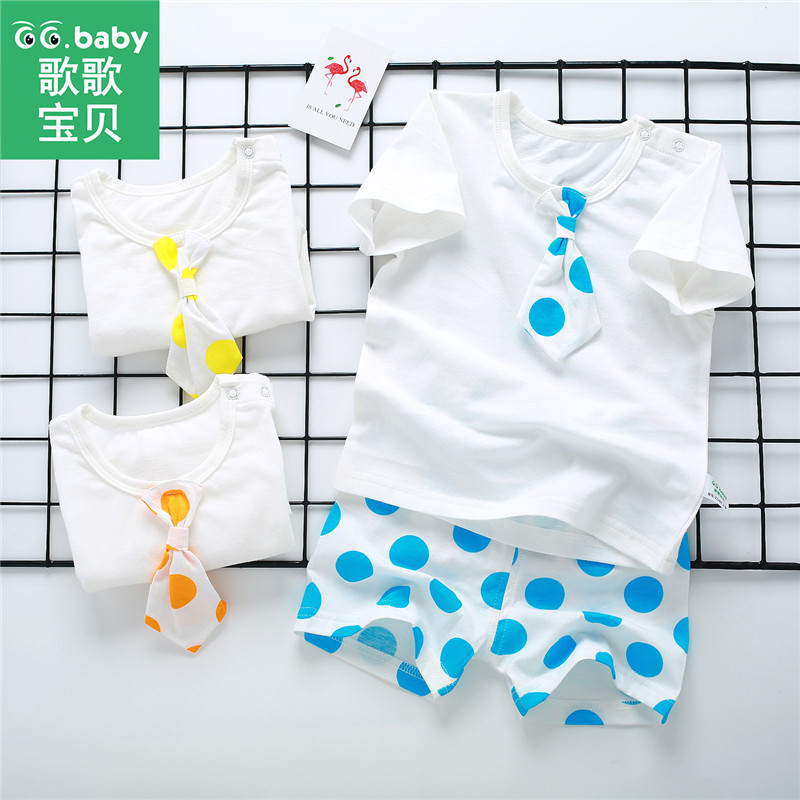 2pcs/set Newborn Baby Boys Girls Summer Set Cotton Baby Clothing Sets Unisex T-shirts Short Set Fashion Striped Infant Clothes hatsonic