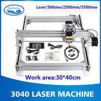 working area 40cmx30cm, 500mw/2500mw/5500mw laser cnc machine, Desktop DIY Violet Laser Engraving Machine Picture CNC Printer
