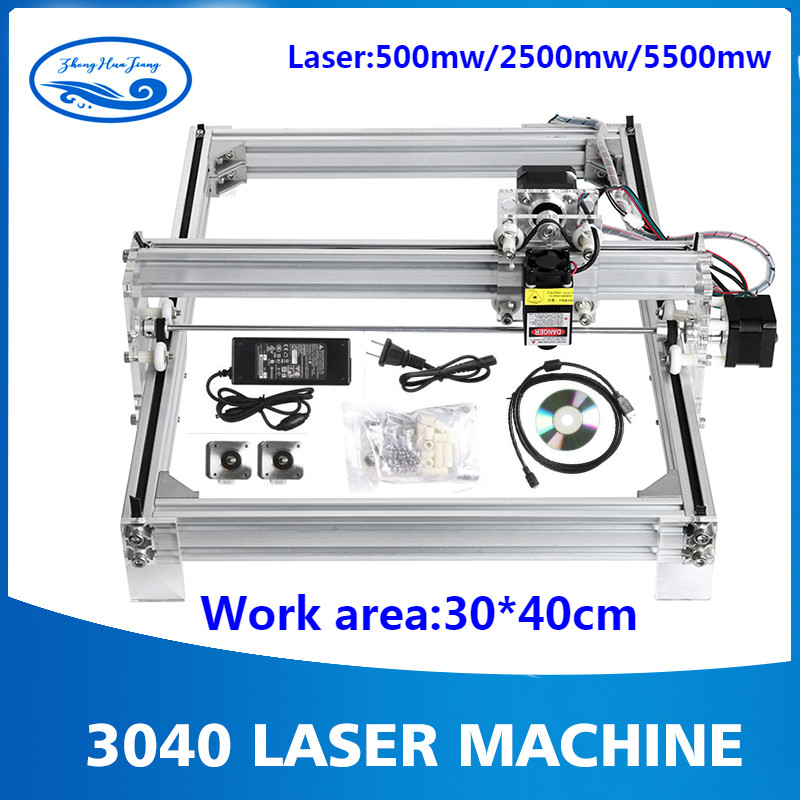 Working Area 40cmx30cm, 500mw/2500mw/5500mw Laser Cnc Machine, Desktop DIY Violet Laser Engraving Machine Picture CNC Printer