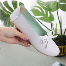Women Shoes Bow Knot Flats Round Head Shallow Mouth Single Shoes Female Flat Ballet Luxury Black Flat Shoes Women Ladies Shoes
