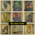 Звездные войны Vintage Ретро Крафт-Бумага Матовая Античная Плакат Стикер Стены Главная Декора Часть 1