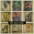 Star Wars Fosco Retro Kraft Papel Poster Antigo Do Vintage Adesivo de Parede Casa Decora a Parte 1