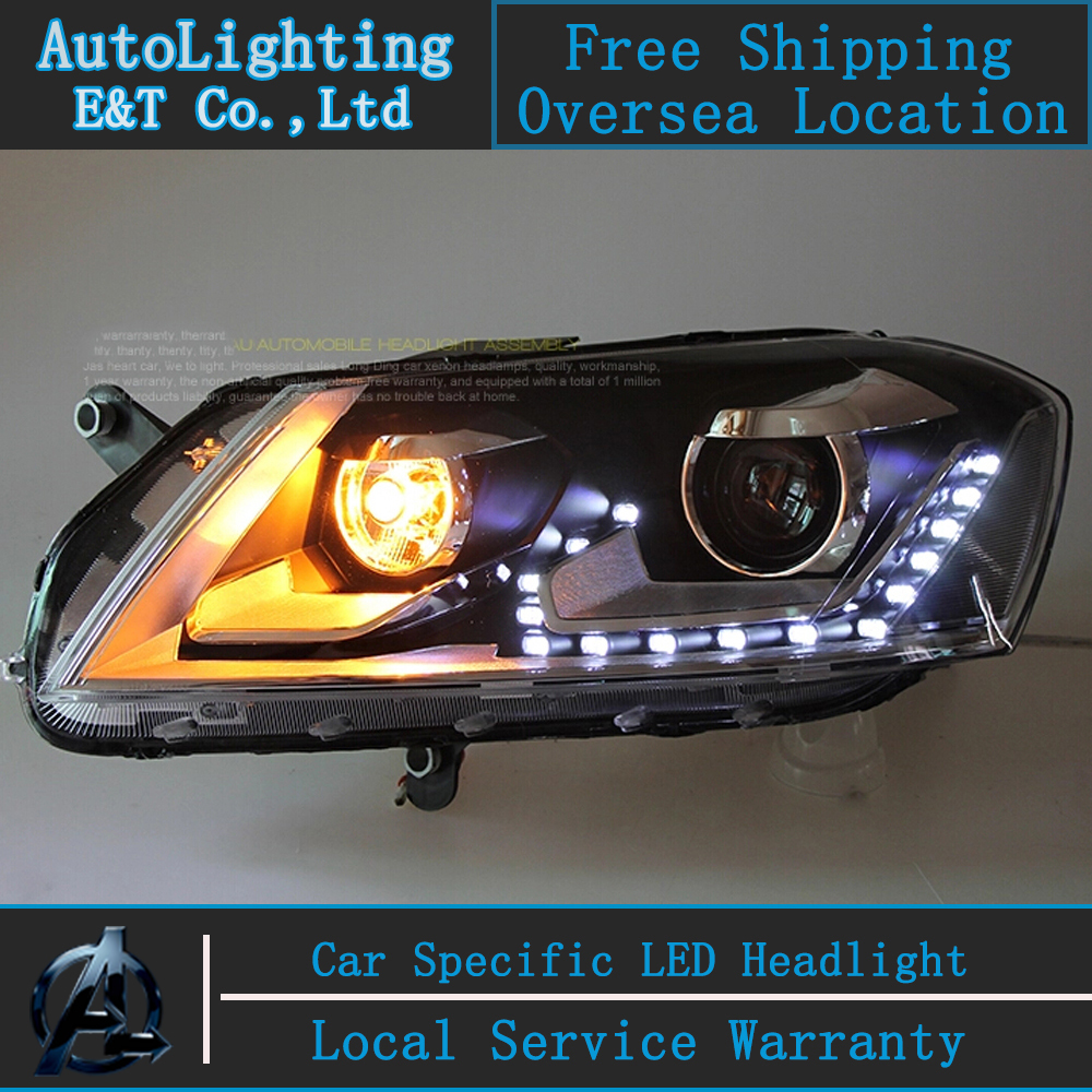 Car Styling VW Passat headlight assembly 2012-2014 Volks Wagen Passat B7 led Headlight head lamp led drl H7 with hid kit 2pcs.