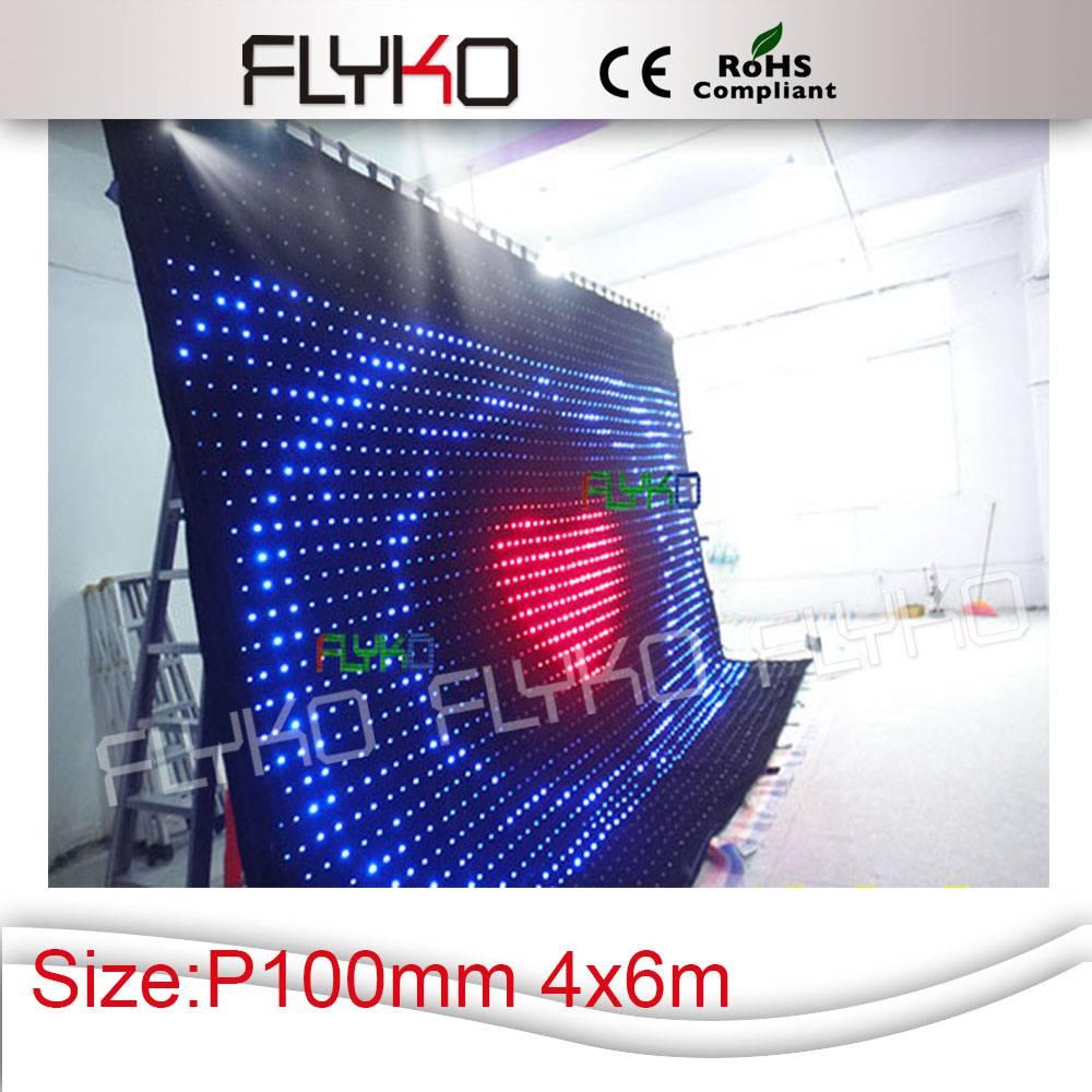 СВЕТОДИОДНЫЙ видеоэкран звезда ткань P10 4*6 фон dmx/SD Card/компьютер Управление коробка упаковочная