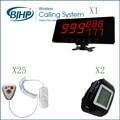 25 botón de llamada 2 reloj 1 monitor de pantalla hospital clinic Inalámbrico sistema de llamada enfermera paciente llamada de emergencia