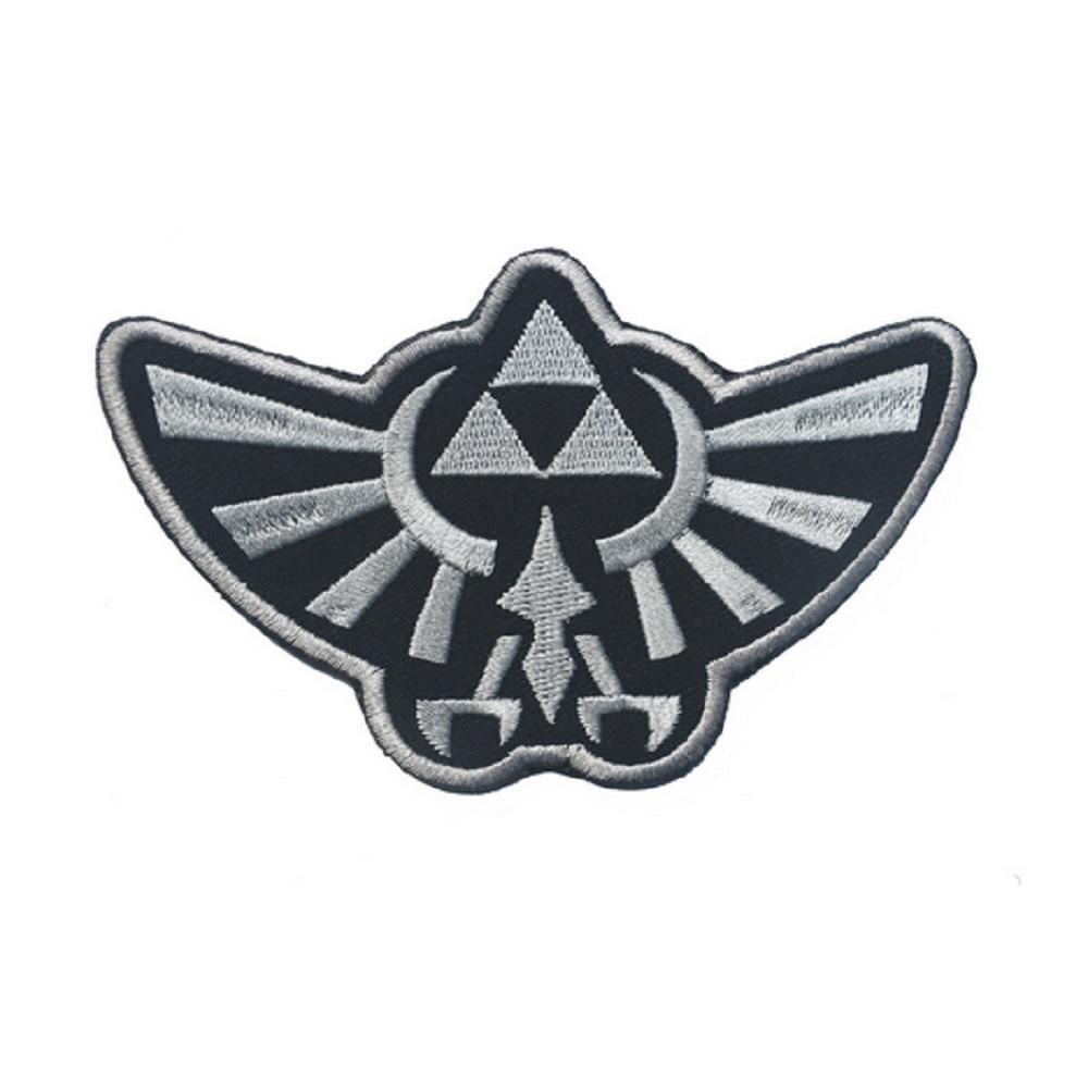 662b8bd3efa79 Embroidery Decorative Hook Loop Embroidered Legend of Zelda Hyrule s Royal  Crest Gold Logo Tactical Badge USA Army Morale -in Badges from Home    Garden on ...