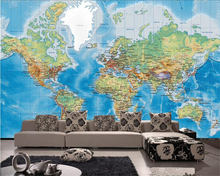 beibehang Personalized fashion high quality wallpaper 3D satellite shooting world map background papel de parede 3d