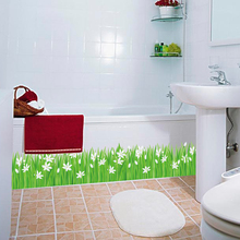 SK7044 Grass waist baseboard living room wall stickers home decor small flowers  waterproof removable