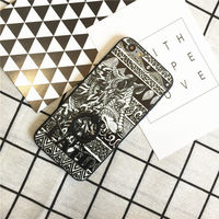 2017 Luxury Fashion Case Cool Wolf Rubber Silicone Frame And PC Bottom Phone Case for iPhone 6 6S 6 Plus 6S Plus