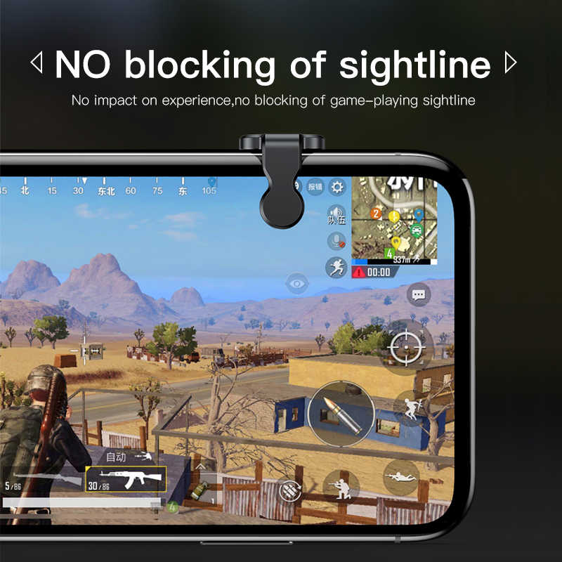 Baseus Gamepad Joystick Per PUBG Joypad Trigger Pulsante di Fuoco Obiettivo L1 R1 Chiave L1R1 Shooter Controller Per PUBG Del Telefono Mobile game Pad