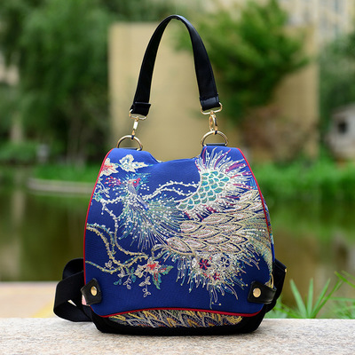 Fashion Embroidery Women Backpacks!nice Handmade Animal Embroidered Lady Travel Backpack Multi-use Bohemian Canvas Hasp Rucksack