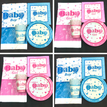 A Little Baby girl boy theme 20 cups+20plates+20napkins+1pcs tablecloth for kids favors birthday party Tableset decoration