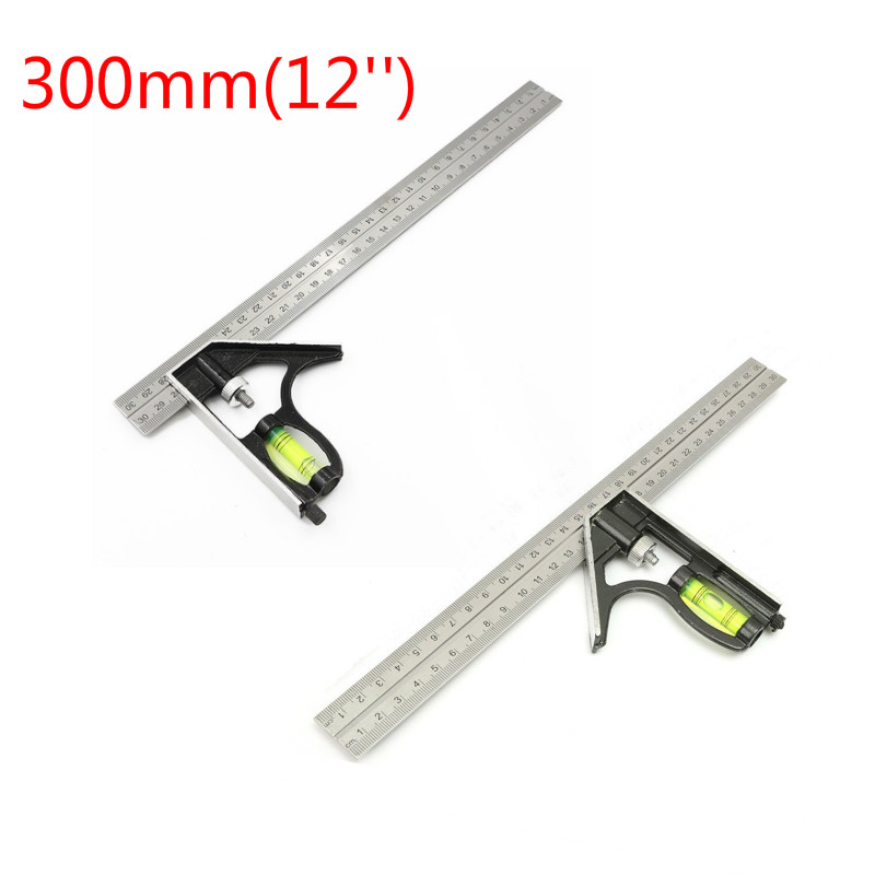 150mm Mini Adjustable Combination Try Square Set Right Angle Ruler