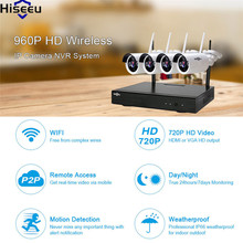Hiseeu NVR Kit IP Camera 4CH Powerful wifi NVR 960P Wireless CCTV System Home Security System Surveillance Kit CCTV Camera 48
