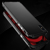 BOBYT Original Luxury Case For IPhone X 10 Fashion Metal Bumper Clear Acrylic 360 Full Protection