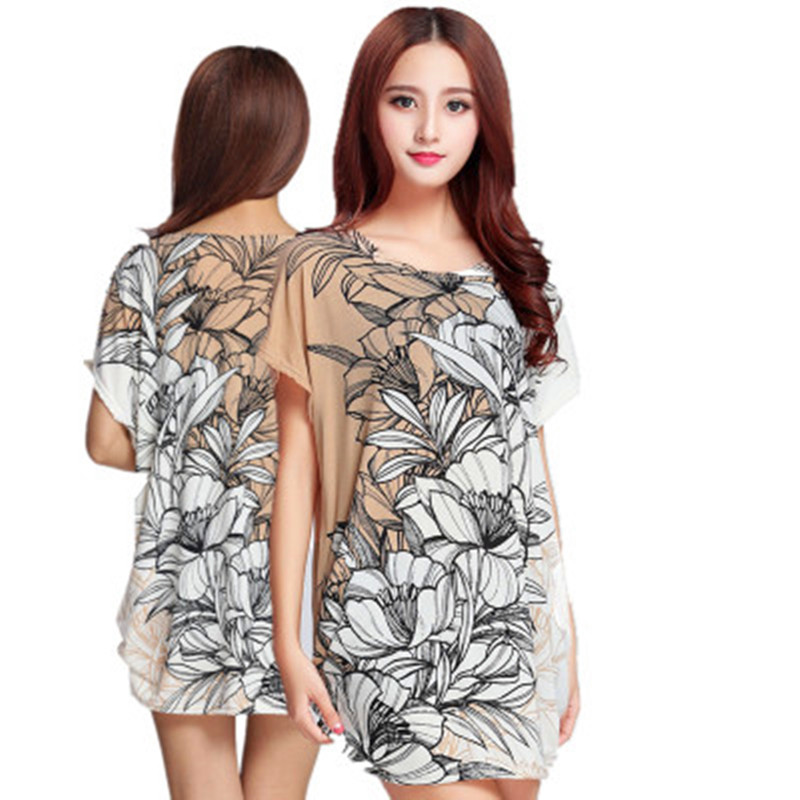 77ee89d6057 2018 Summer maternity clothing Print dress with short sleeves pregnancy  women loose tops Big yards maternity clothes 15 styles
