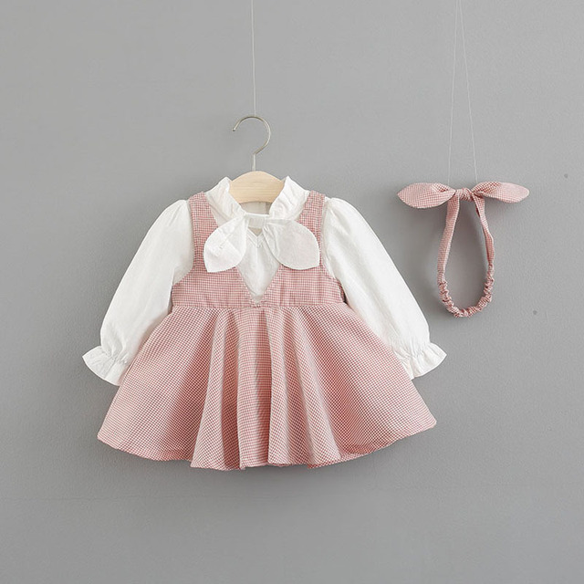 2018 Fashion Baby Dress Autumn Infant Dress Long Sleeve Cotton Girls Dresses  for Kids Girls Clothes dc78ae157f06