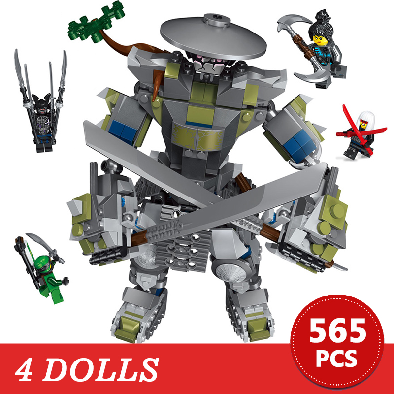 565Pcs Oni Titan Warrior Robots Building Blocks Compatible with LegoINGLYS friends Bricks Model Kits Figure Toys