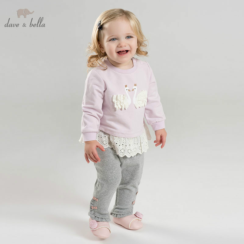 DB10517 dave bella spring baby girl fashion clothing sets girls lovely long sleeve suits children print clothes DB10517 dave bella spring baby girl fashion clothing sets girls lovely long sleeve suits children print clothes