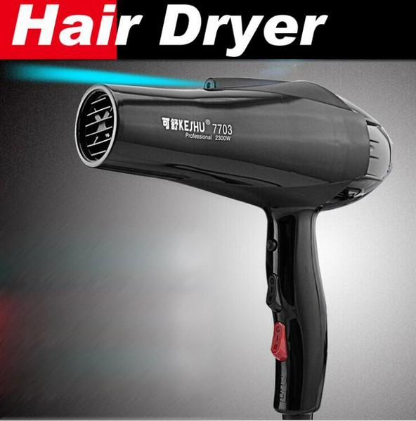 Professional 2300w Black hair dryer high power blow dryer negative ion hairdryer hot and cold secador Free Shipping 1pcs/lot professional hair dryer 2200w 220v ion hair care styling tools secador de cabelo fashion hot cold nano titanium hairdryer