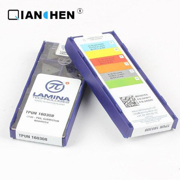 Véritable original de haute qualité haute performance LAMINA TPUN 160308 LT30 (10 pcs/lot) outils de coupe en carbure de tungstène inserts