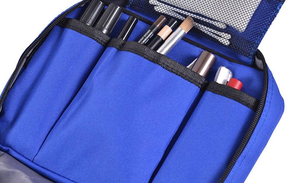 Hanging Travel Cosmetic Bag Women Zipper Make Up Bags Polyester High Capacity Makeup Case handbag Organizer Storage Wash Bag     (9)