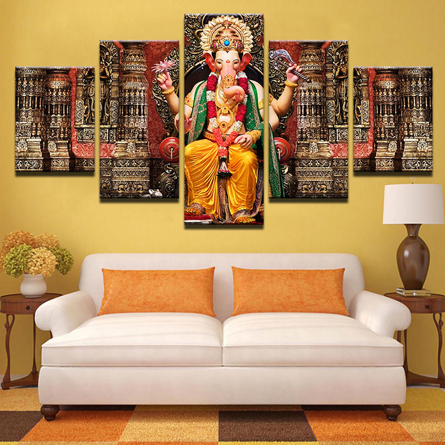 Modular canvas wall art poster hd printed pictures frame 5 - Wall pictures for living room india ...
