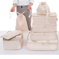8pcs/lot Men and Women Travel Luggae Suitcase Tide Packing Organizer Good Quality Travel Accessories Bags