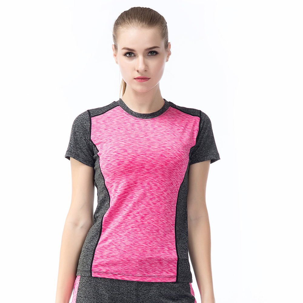 6 Colors Women Yoga Shirt for Fitness Running Sports T Shirt ,Gym Quick Dry Sweat Breathable Exercises Short Sleeve Tops