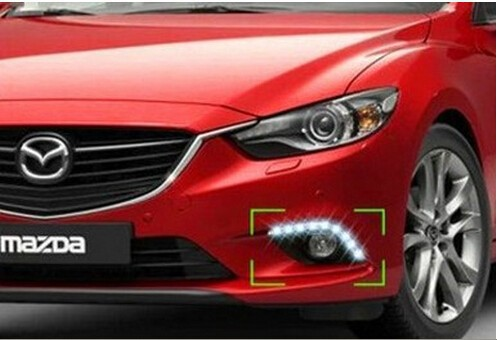 free shipping,for Mazda 6 M6 ATENZA 2013 2014 LED DRL Daytime running light Fog lamp with dimmer function Super bright enn vetemaa möbiuse leht teine raamat page 7
