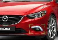free shipping,for Mazda 6 M6 ATENZA 2013 2014 LED DRL Daytime running light Fog lamp with dimmer function Super bright