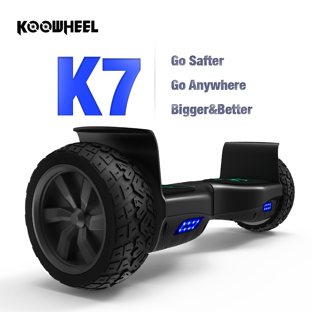 Koowheel K7 Hoverboard Tout-Terrain 8.5 Balance Board Auto Équilibre Scooter Hover Auto-Équilibrage Survolez Difficile l'état des routes